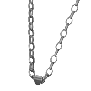 Oval Belcher Chain Sterling Silver