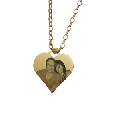 Medium Heart Yellow Gold