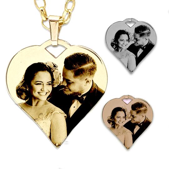 Heart shaped photo pendant