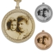 Round looped edge photo pendant